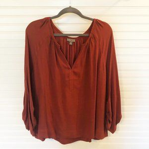 J Crew Point Sur Ruched Sleeve Blouse